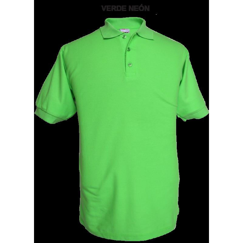 Playera Polo Verde Neon