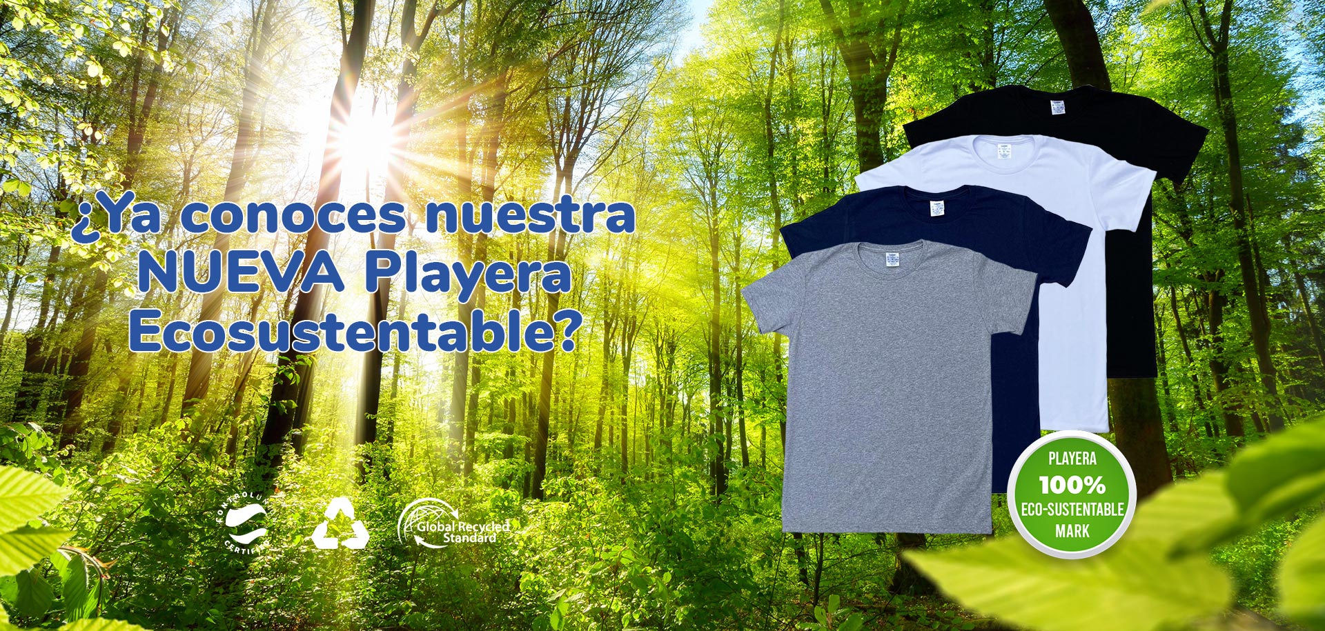 Playera Algodón Eco Sustentable